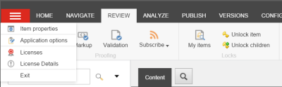 Sitecore Application Options