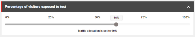 Content Test Traffic Allocation