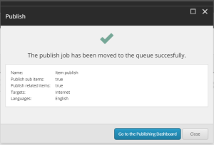 Sitecore Publishing Service added to queue